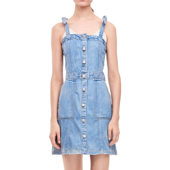 11a18c32446 La Vie Rebecca Taylor Drapey Denim Dress